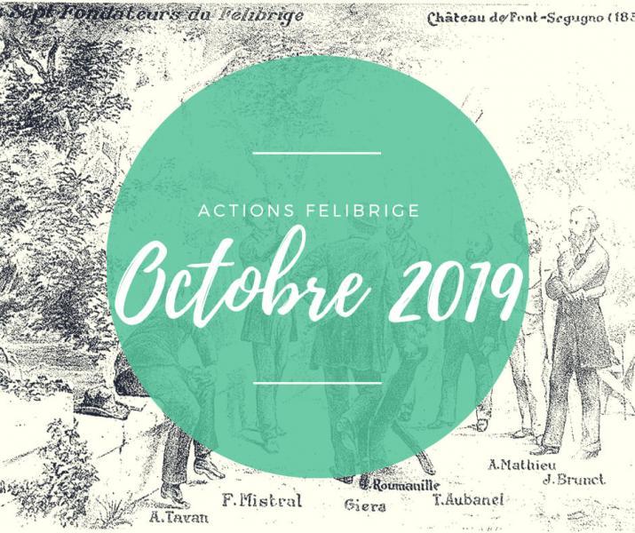 Actions felibrige octobre 2019